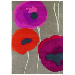 Rug Poppies red orange