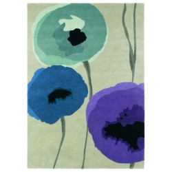 Rug Poppies indigo purple