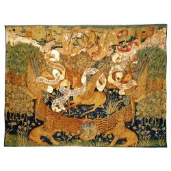 Wandteppich Les Cerfs Ailes cm.144x196