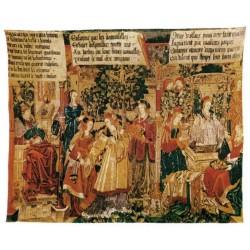 Wandteppich Suzanne Et Les Vieillards cm.142x176