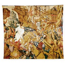 Tapestry Bataille Et Embarquement cm.142x160