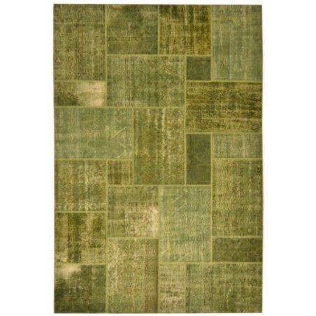 Rug Patchwork green cm.200x300