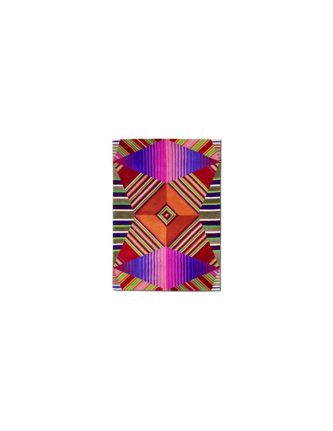 Contemporary rug Tappeto Missoni Home Nabarniz arancio T159 designed by Missoni Home