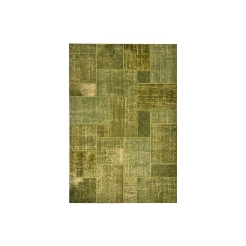 Rug Patchwork green cm.200x300