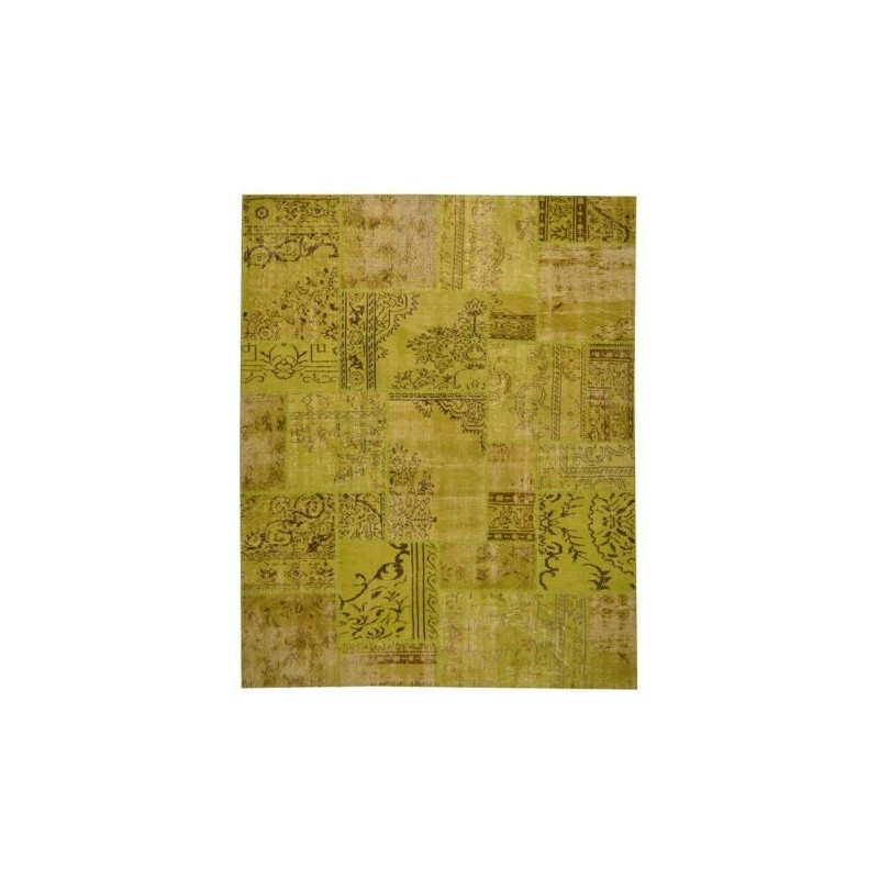 Rug Patchwork green lemon cm.200x250